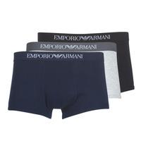 内衣  男士 拳击 Emporio Armani CC722-111610-94235 海蓝色 / 灰色 / 黑色