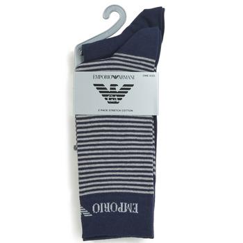 配件 男士 短筒襪 Emporio Armani CC114-302302-00035 海藍色