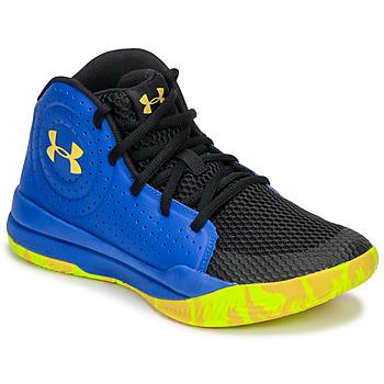 鞋子 兒童 籃球 Under Armour 安德瑪 GS JET 2019 藍色 / 黃色
