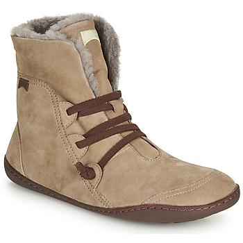 鞋子 女士 短筒靴 Camper 看步 PEU CAMI 米色