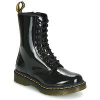 鞋子 女士 短筒靴 Dr Martens 1490 PATENT LAMPER 黑色