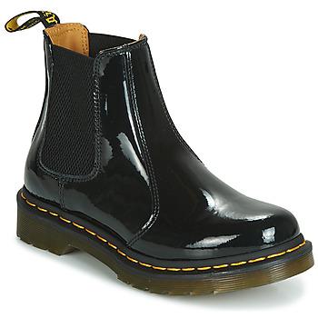鞋子 女士 短筒靴 Dr Martens 2976 PATENT LAMPER 黑色