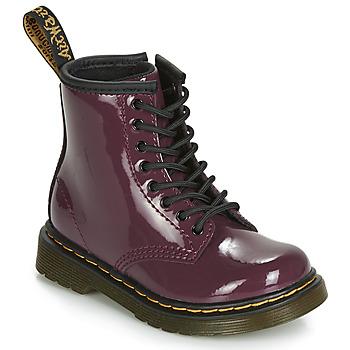 鞋子 女孩 短筒靴 Dr Martens 1460 PATENT TODDLER 紫羅蘭