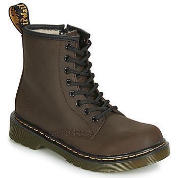 鞋子 兒童 短筒靴 Dr Martens 1460 SERENA JUNIOR 棕色