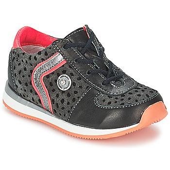 鞋子 女孩 短筒靴 Catimini CISTUDE 黑色 / 紫红色
