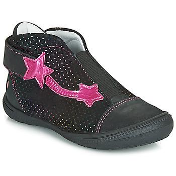 鞋子 女孩 短筒靴 GBB NOLWENN 黑色 / 玫瑰色