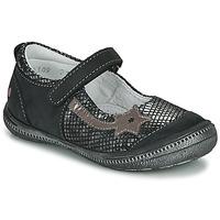 鞋子 女孩 平底鞋 GBB NYOKO 黑色 / 银灰色