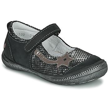 鞋子 女孩 平底鞋 GBB NYOKO 黑色 / 銀灰色