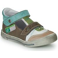 鞋子 男孩 涼鞋 GBB PEPINO 棕色 / 米色 / 綠色