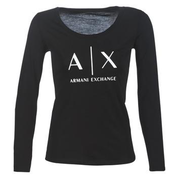 衣服 女士 长袖T恤 EMPORIO ARMANI EAX 8NYTDG-YJ16Z-1200 黑色