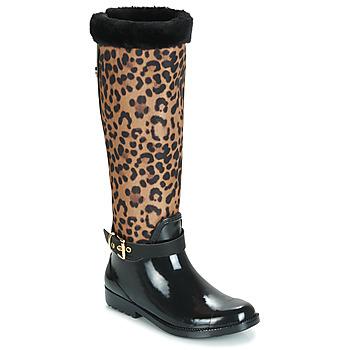 鞋子 女士 雨靴 Guess CICELY 黑色 / Leopard