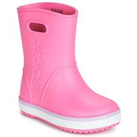 鞋子 女孩 雨靴 crocs 卡骆驰 CROCBAND RAIN BOOT K 玫瑰色