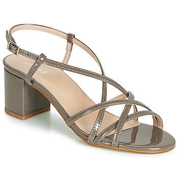 鞋子 女士 凉鞋 André CHIARA 灰褐色