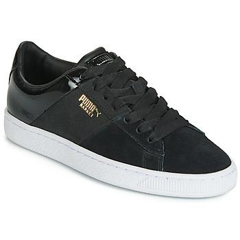鞋子 女士 球鞋基本款 Puma 彪馬 BASKET REMIX 黑色 / 金色