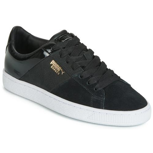 鞋子 女士 球鞋基本款 Puma 彪马 BASKET REMIX 黑色 / 金色