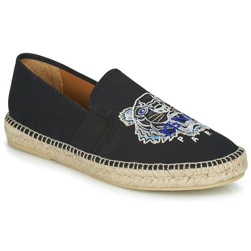 鞋子 男士 帆布便鞋 Kenzo ESPADRILLE ELASTIQUE TIGER HEAD 黑色