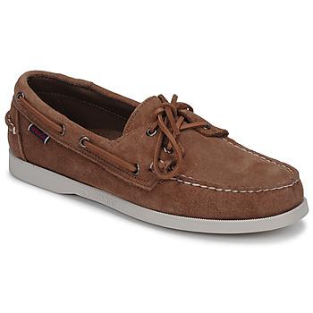 鞋子 男士 船鞋 Sebago 仕品高 DOCKSIDES PORTLAND SUEDE 驼色