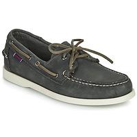 鞋子 男士 船鞋 Sebago 仕品高 DOCKSIDES PORTLAND CRAZY H 灰色