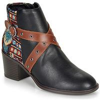 鞋子 女士 短靴 Desigual ALASKA TAPESTRY 黑色