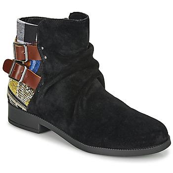 鞋子 女士 短筒靴 Desigual OTTAWA PATCH 黑色