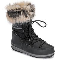 鞋子 女士 雪地靴 Moon Boot MOON BOOT MONACO LOW WP 2 黑色