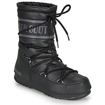 鞋子 女士 雪地靴 Moon Boot MOON BOOT MID NYLON WP 黑色