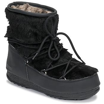 鞋子 女士 雪地靴 Moon Boot MOON BOOT MONACO LOW FUR WP 黑色