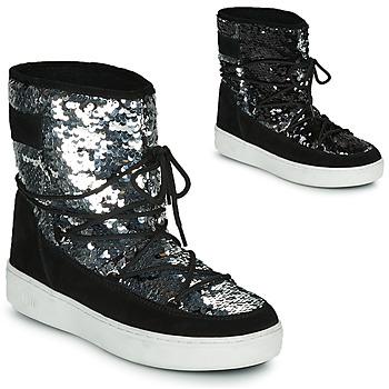鞋子 女士 雪地靴 Moon Boot MOON BOOT PULSE MID DISCO 黑色 / 淺黃色
