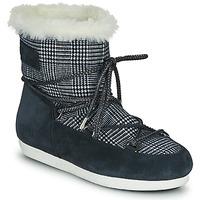 鞋子 女士 雪地靴 Moon Boot MOON BOOT FAR SIDE LOW FUR TARTAN 海藍色