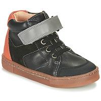 鞋子 男孩 高帮鞋 Babybotte 宝宝波特 KEN 黑色 / 橙色