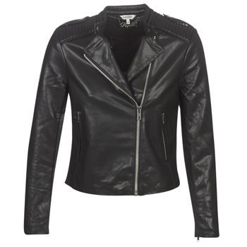 衣服 女士 皮夹克/ 人造皮革夹克 Kaporal XUT 黑色