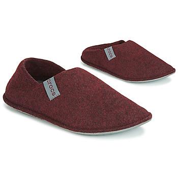 鞋子 拖鞋 crocs 卡骆驰 CLASSIC CONVERTIBLE SLIPPER 波尔多红 / 灰色