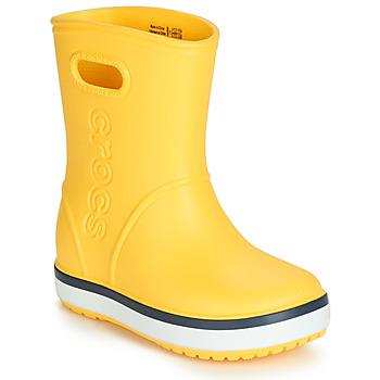 鞋子 儿童 雨靴 crocs 卡骆驰 CROCBAND RAIN BOOT K 黄色 / 海蓝色