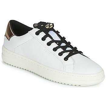 鞋子 女士 球鞋基本款 Geox 健樂士 D PONTOISE 白色 / 銅色