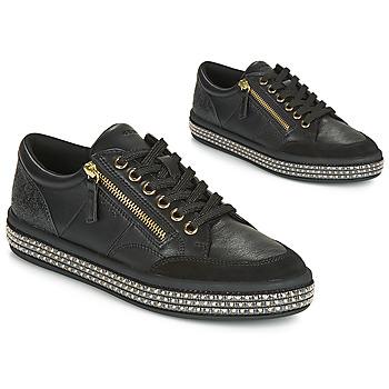 鞋子 女士 球鞋基本款 Geox 健樂士 D LEELU' 黑色