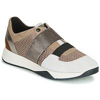 鞋子 女士 球鞋基本款 Geox 健樂士 D SUZZIE 灰褐色 / 銀色