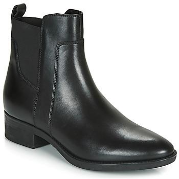 鞋子 女士 短筒靴 Geox 健乐士 FELICITY 黑色