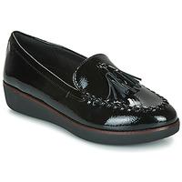 鞋子 女士 皮便鞋 FitFlop PETRINA MOCASSIN 黑色