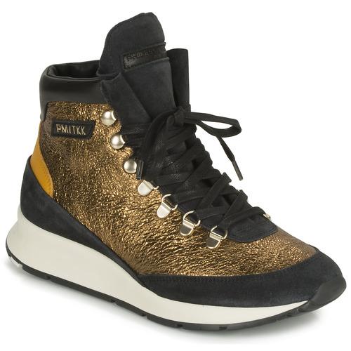 鞋子 女士 高帮鞋 PHILIPPE MODEL MONTECARLO 金色 / 黑色