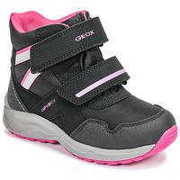 鞋子 女孩 雪地靴 Geox 健乐士 J KURAY GIRL B ABX 黑色 / 玫瑰色