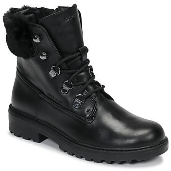 鞋子 女孩 短筒靴 Geox 健乐士 J CASEY GIRL WPF 黑色