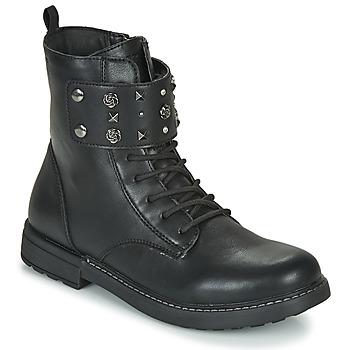 鞋子 女孩 短筒靴 Geox 健樂士 J ECLAIR GIRL 黑色