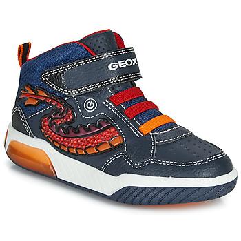 鞋子 男孩 高幫鞋 Geox 健樂士 J INEK BOY 藍色 / 紅色 / Led
