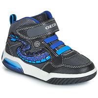 鞋子 男孩 高幫鞋 Geox 健樂士 J INEK BOY 黑色 / 藍色