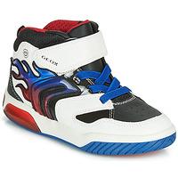 鞋子 男孩 高幫鞋 Geox 健樂士 J INEK BOY 白色 / 藍色 / Led