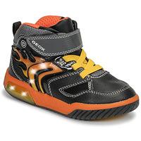 鞋子 男孩 高帮鞋 Geox 健乐士 J INEK BOY 黑色 / 橙色
