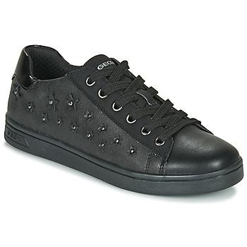 鞋子 女孩 球鞋基本款 Geox 健乐士 J DJROCK GIRL 黑色
