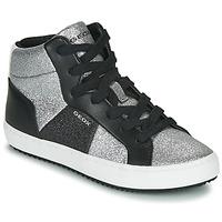 鞋子 女孩 高帮鞋 Geox 健乐士 J KALISPERA GIRL 黑色 / 银色