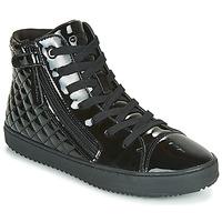 鞋子 女孩 高幫鞋 Geox 健樂士 J KALISPERA GIRL 黑色