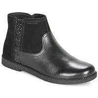 鞋子 女孩 短筒靴 Geox 健樂士 J SHAWNTEL 黑色